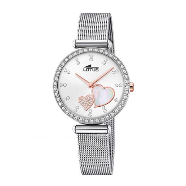 75e51a6045ee Reloj Lotus 18616 1 de mujer con caja y correa de acero plateado ...