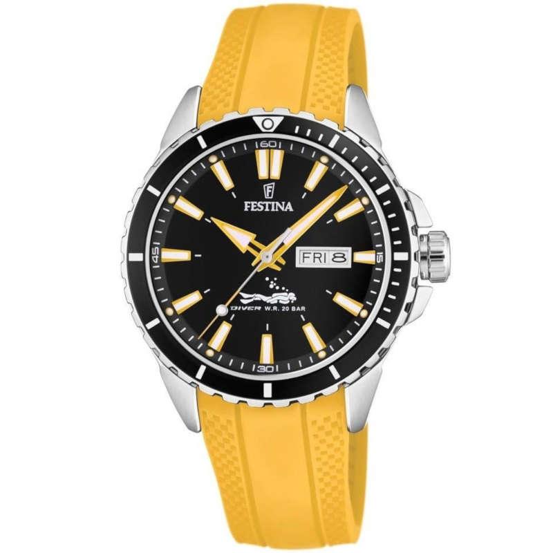 a5e5f0943180 Reloj Festina F20378 4 de hombre con caja de acero y correa de ...
