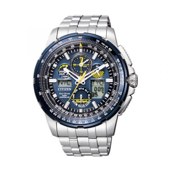 Reloj Citizen Super Pilot Radiocontrolado Eco-Drive Edición Blue Angels para hombre JY8058-50L