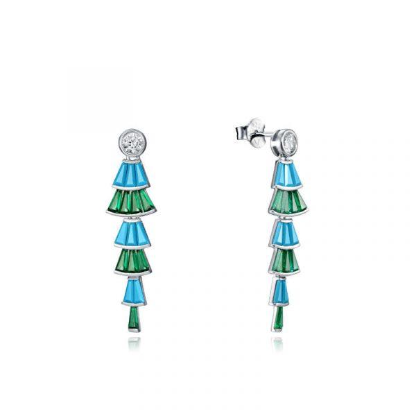 pendientes viceroy coleccion elegant para mujer 15107E000-38 en plata de ley y cristales