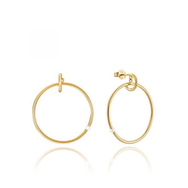 pendientes de aro viceroy coleccion trend para mujer 61003E100-60 de plata y perla