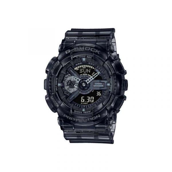 reloj casio g-shock skeleton GA-110SKE-8AER para hombre, analógico y digital