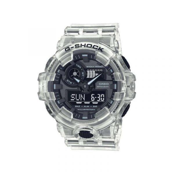 reloj casio g-shock colección skeleton para hombre GA-700SKE-7AER analogico y digital