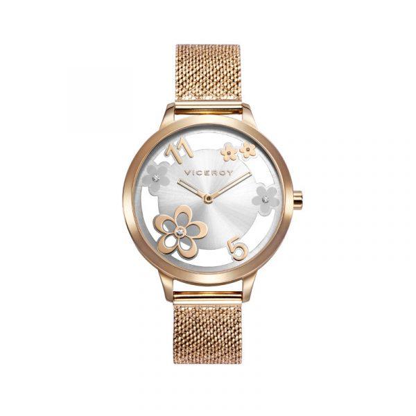 reloj viceroy colección kiss para mujer 471296-05 analogico de acero chapado