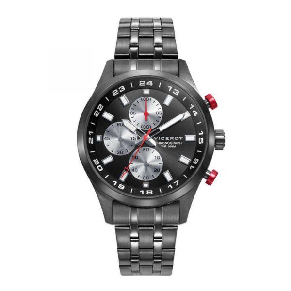 reloj viceroy coleccion beat 401251-57 para hombre, cronografo de acero