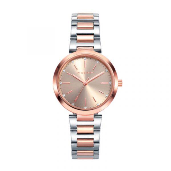 reloj viceroy colección chic para mujer 40864-99 analogico de acero bicolor