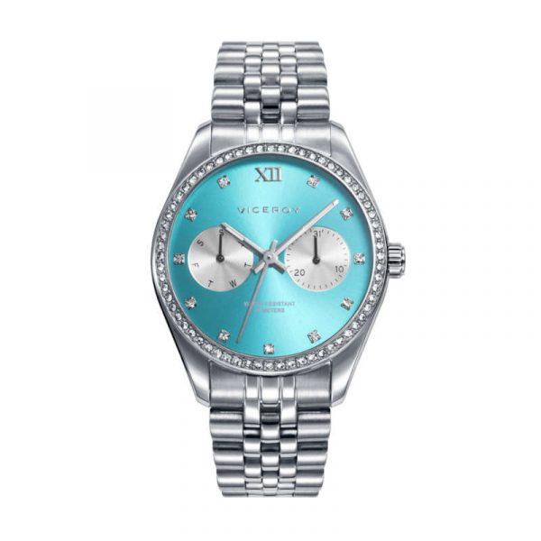 reloj viceroy chic para mujer 42418-67 analógico multifuncion de acero