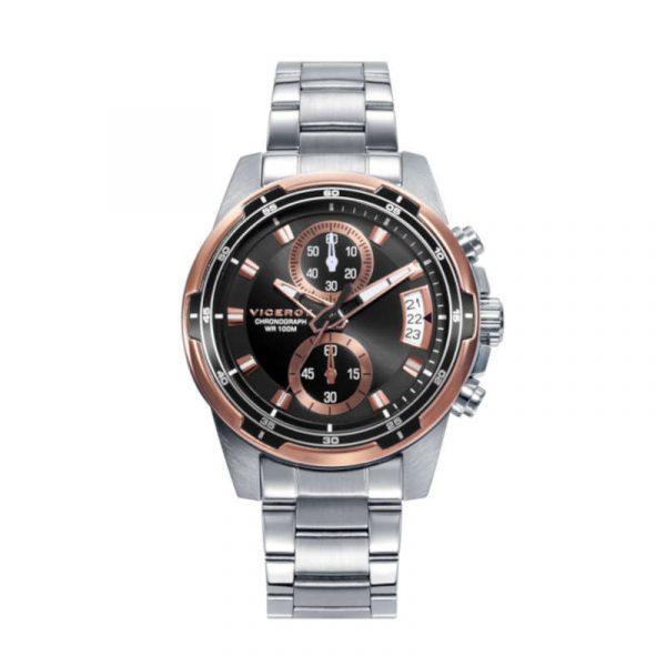 reloj viceroy coleccion heat para hombre, de acero con cronografo