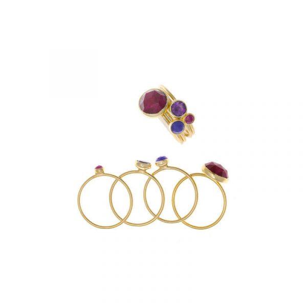 anillo salvatore plata mujer 247S0010/16