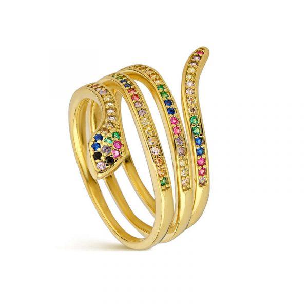 anillo serpiente promojoya mujer 9112296