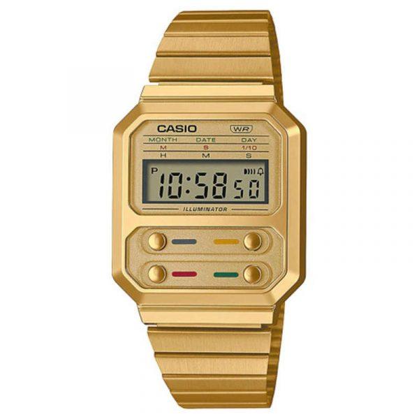 reloj casio vintage collection unisex A100WEG-9AEF