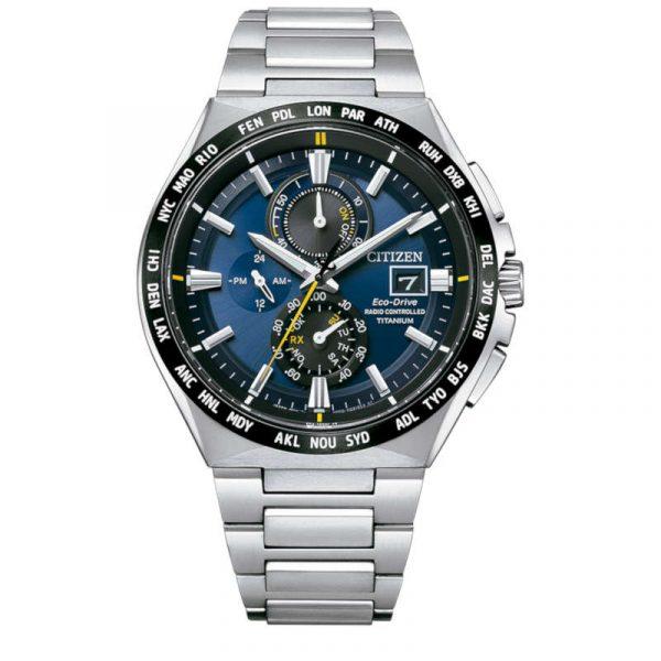 reloj citizen ecodrive super titanium radiocontrolado hombre AT8234-85L